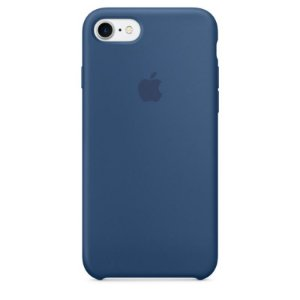 Capa Capinha Case de Silicone para Iphone 7 / Iphone 8 - Azul