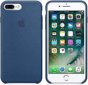 Capa Capinha Case de Silicone para Iphone 7 / Iphone 8 - Plus Azul