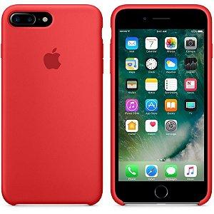 Capa Capinha Case  de Silicone Para iPhone 7 Plus - Vermelha