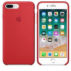 Capa Capinha Case de Silicone para Iphone 7 / Iphone 8 Plus - Vermelho