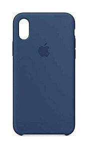 Capa Capinha Case de Silicone para Iphone X / Iphone XS - Azul Escuro