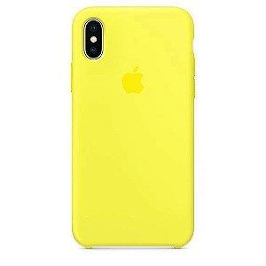 Capa Capinha Case de Silicone para Iphone XR - Amarelo