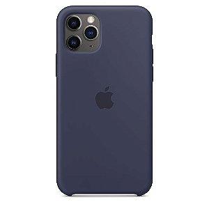 Capa Capinha Case de Silicone para Iphone 11 Pro - Azul Escuro
