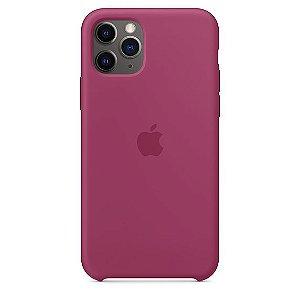 Capa Capinha Case de Silicone para Iphone 11 Pro Max - Vinho