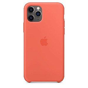 Capa Capinha Case de Silicone para Iphone 11 Pro Max - Laranja