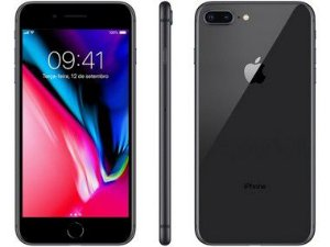 iPhone 8 Plus Preto 256GB Semi Novo De Vitrine