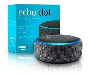 Smart Speaker Amazon Alexa Echo Dot 3 Preto
