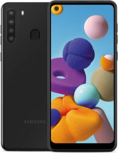 """Smartphone Samsung Galaxy A21s Preto 64GB, Câmera Quádrupla,Tela Infinita de 6.5"""", Leitor de Digital, 4GB RAM, Carregamento Rápido e Android 10"""