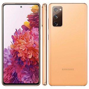"""Smartphone Samsung Galaxy S20 FE Cloud Orange 128GB, 6GB RAM, Tela Infinita de 6.5"""", Câmera Traseira Tripla, Android 10 e Processador Octa-Core"""