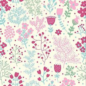 Papel de Parede Adesivo Florais 001
