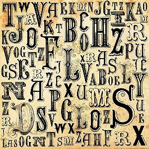 Papel de Parede Adesivo Letras e Palavras 010