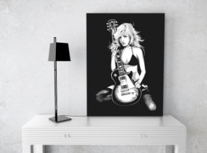 "Placa Decorativa ""Guitar"""