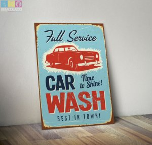 Placa Decorativa Vintage Car