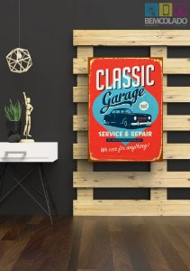 "Placa Decorativa ""Classic Car"""