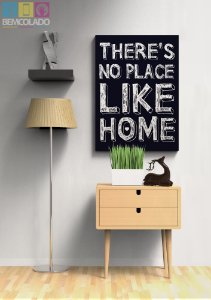 "Placa Decorativa ""No Place Like Home"""