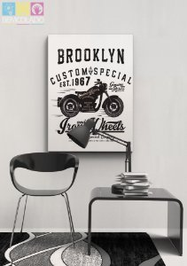 "Placa Decorativa ""Motorbike"""