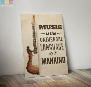 "Placa Decorativa ""Music"""