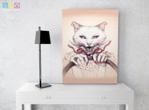 "Placa Decorativa ""Cat Lady"""