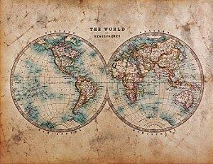 """Painel Fotográfico """"Mapa Mundi"""""""