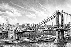 "Painel Fotográfico ""Manhattan Bridge"""