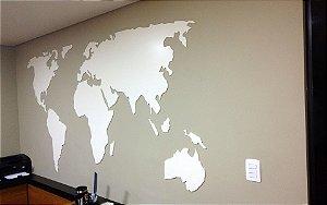 Mapa Mundi em Alto Relevo