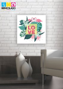 "Placa Decorativa ""Tropical Love"""