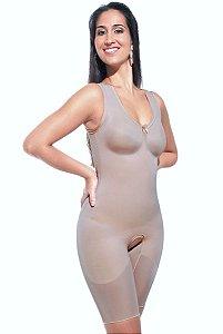 Cinta Modeladora pós cirúrgica com bojo pré-moldado regata, com ou sem abertura frontal