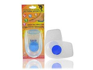 Calcanheira de silicone Action Sport Ponto Azul