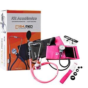 Kit Acadêmico Pa Med - Esfigmo Estetoscópio Garrote Óculos