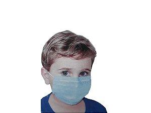 Máscara Cirúrgica Infantil Com Filtro Clip Nasal C/50unid
