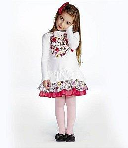 Vestido Infantil Feminino Linda Natureza