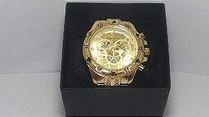 Invicta Reserve Gold Relógio Homens De Poder