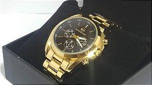 Michael Kors Gold Black Relógio Mulheres De Negócios