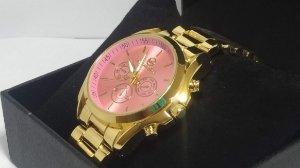 Michael Kors Gold Pink Relógio Mulheres De Negócios
