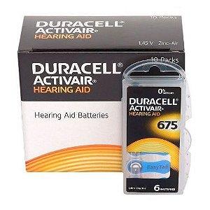 Bateria Para Aparelho Auditivo DURACELL 675 / PR44 - Mercury Free ActivAir