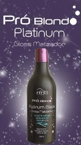 Pro Blond Platinum Gloss Matizador preto 500ml