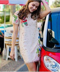 Vestido Paetê Bordado - Anne Fernandes