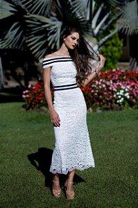 Vestido Midi Renda - Anne Fernandes.