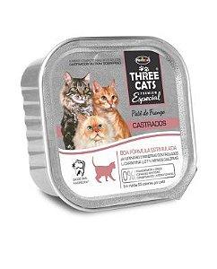Ração Úmida para Gatos Three Cats Patê de Frango 90g