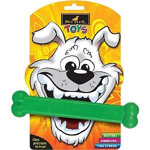 Brinquedo Osso Grande Para Cachorro Pet Flex Verde