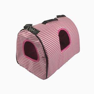 Bolsa Para Transporte de Cachorros e Gatos Rosa G