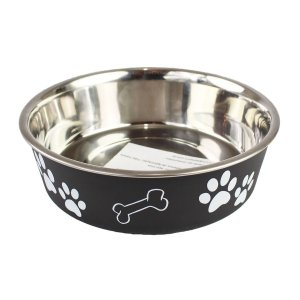 Comedouro Bebedouro Bella Bowl 17cm Loving Pets Preto