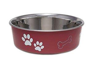 Comedouro Bebedouro Bella Bowl 11cm Loving Pets Merlot
