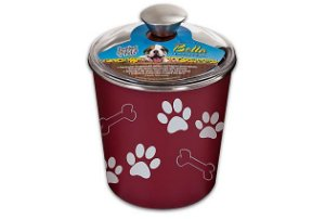 Porta Petisco Container Bella Canister Loving Pets Merlot 16cm