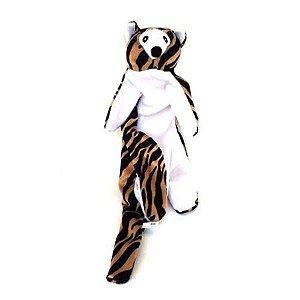 Brinquedos Para Cachorro Pelucia Tigre Sem Enchimento Duki
