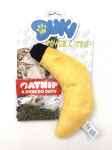 Brinquedos Para Gatos Pelucia Banana Com CatNip Gatos Duki