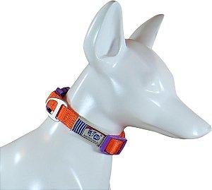 Coleira Para Cachorro Au Neon Orange