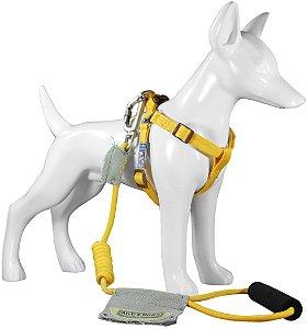 Peitoral e Guia Para Cachorro Au Yellow