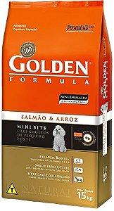 Ração Golden Formula Adultos Salmão Mini Bits