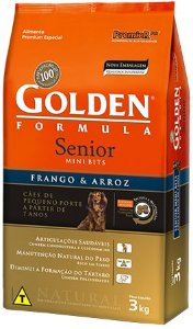 Ração Golden Formula Senior Frango e Arroz Mini Bits